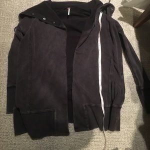 NWT Free People Black faded Cardigan Jacket XS